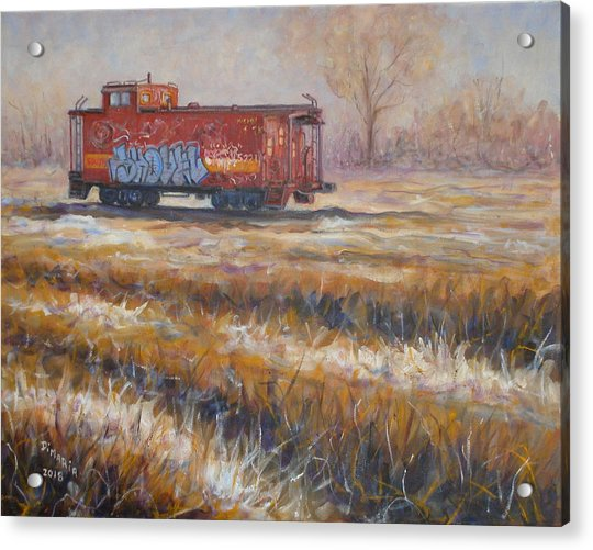 Lonely Caboose #2 Acrylic Print