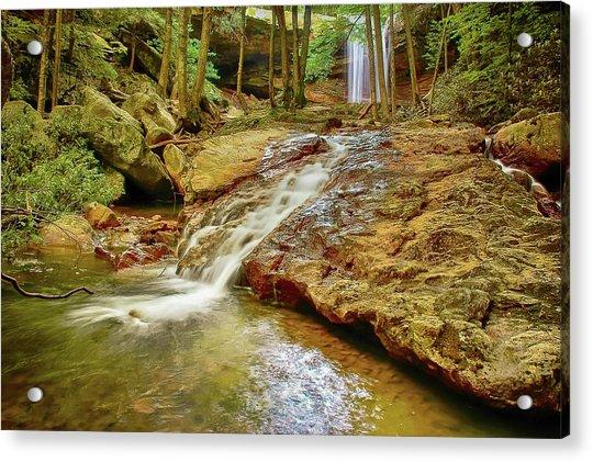 Long Falls Acrylic Print