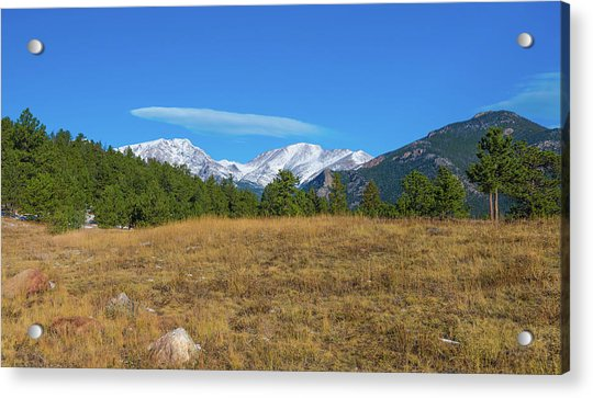 Longs Peak From Upper Beaver Meadows Acrylic Print