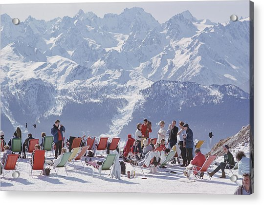 Lounging In Verbier Acrylic Print
