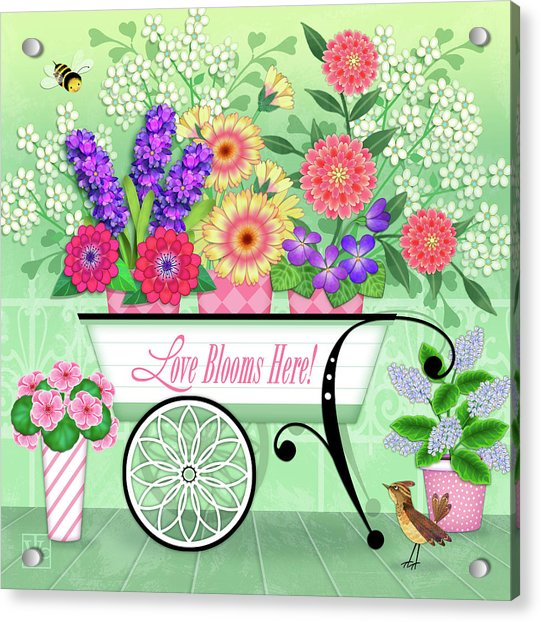Love Blooms Here Acrylic Print