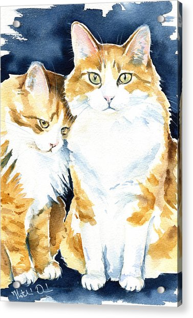 Love Me Meow Cat Painting Acrylic Print