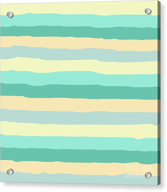 lumpy or bumpy lines abstract and summer colorful - QAB271 Acrylic Print