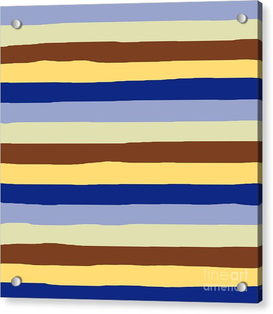 lumpy or bumpy lines abstract and summer colorful - QAB277 Acrylic Print