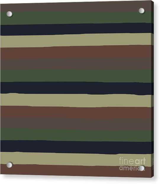 Army Color Style Lumpy Or Bumpy Lines - Qab279 Acrylic Print