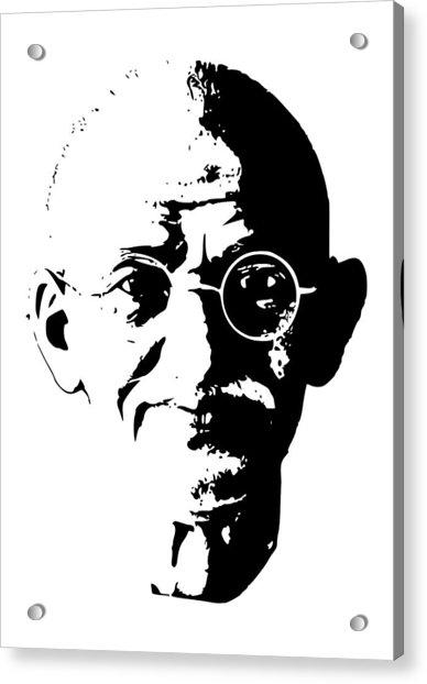 Mahatma Gandhi Minimalistic Pop Art Acrylic Print