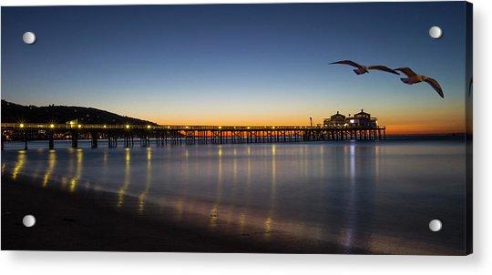 Malibu Pier At Sunrise Acrylic Print