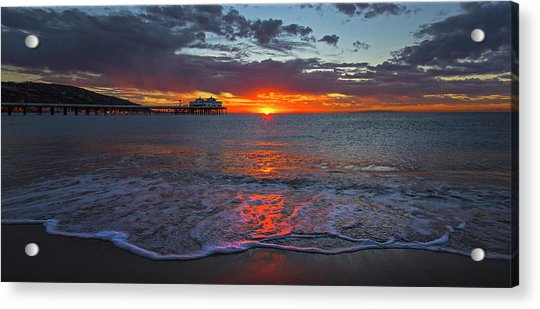 Malibu Pier Sunrise Acrylic Print