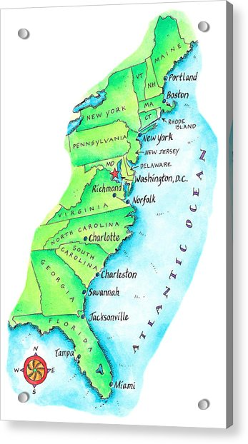 Map Of American East Coast