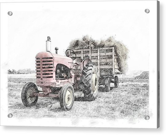 Massey Harris Acrylic Print
