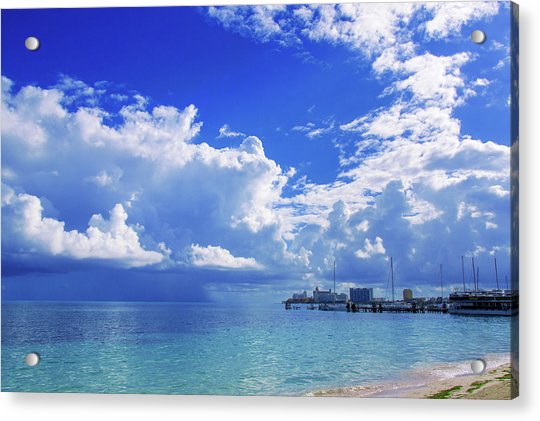 Massive Caribbean Clouds Acrylic Print