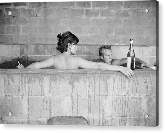 Mcqueen & Adams In Sulphur Bath Acrylic Print by John Dominis