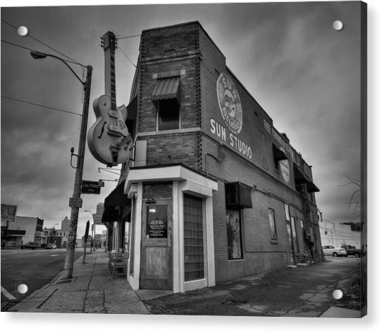Memphis - Sun Studio 004 Bw Acrylic Print