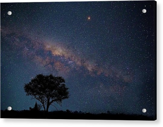Milky Way Over Africa Acrylic Print