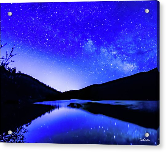 Milky Way Over Springtime Echo Lake Acrylic Print