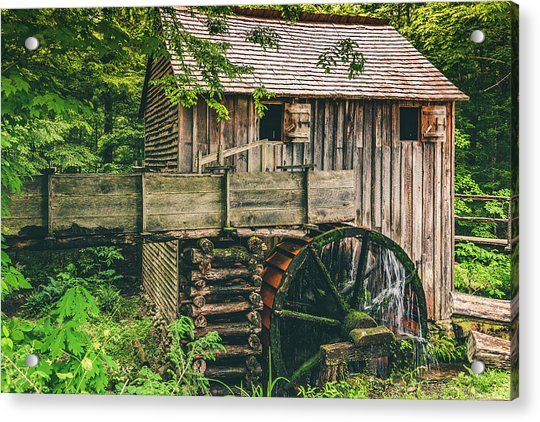 Mill At Cades Cove Acrylic Print