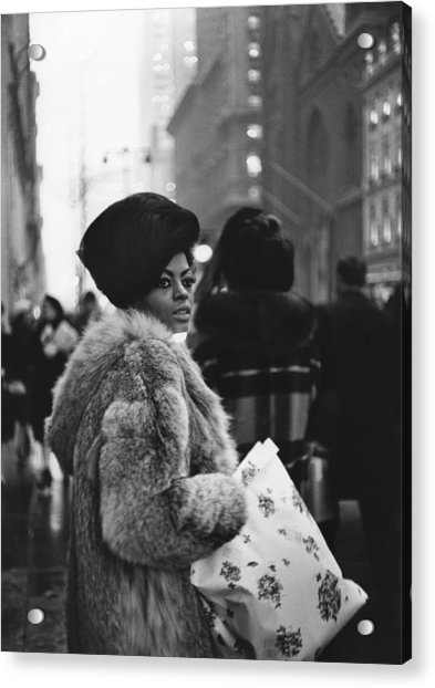 Miss Ross Goes Shopping Acrylic Print by Michael Ochs Archives