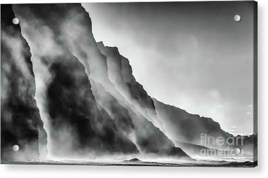 Mist On The Rocks Acrylic Print