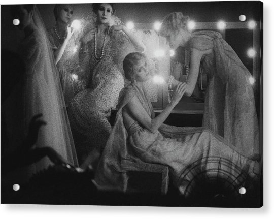 Models In Dressing Room, 1975 Acrylic Print by Sarah Moon