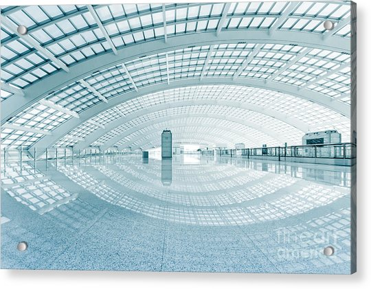 Modern Hall Of Subway Station  At T3 Acrylic Print by Ssguy