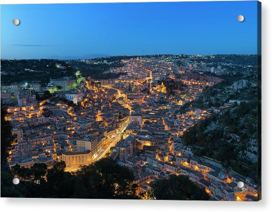 Acrylic Print featuring the photograph Modica, Sicily by Mirko Chessari