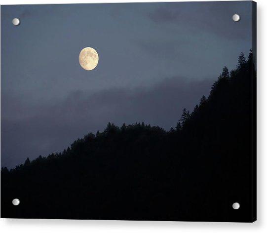 Moon Over Hill Acrylic Print