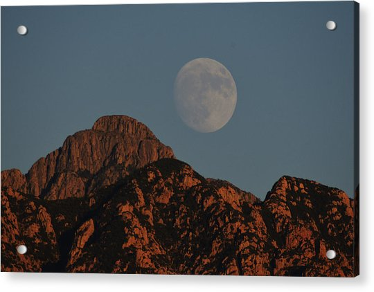 Moon Rise Over Mount Wrightson  Acrylic Print