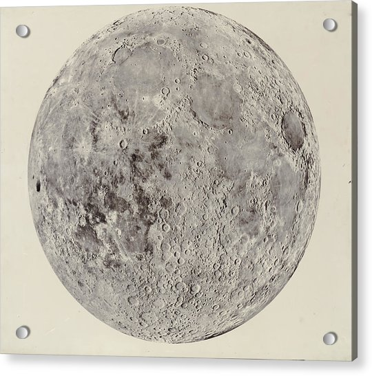 Moon With Craters Acrylic Print
