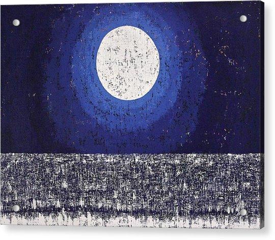 Moonbathing Original Painting Acrylic Print