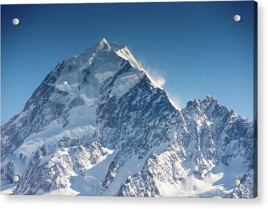 Mount Cook Aoraki Summit Ridge Acrylic Print