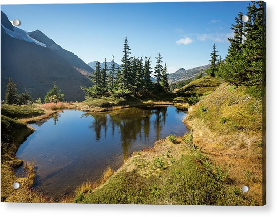 Acrylic Print featuring the photograph Mountain Pond by Tim Newton