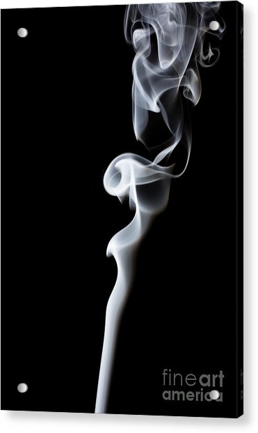 Movement Of Smoke,abstract White Smoke Acrylic Print
