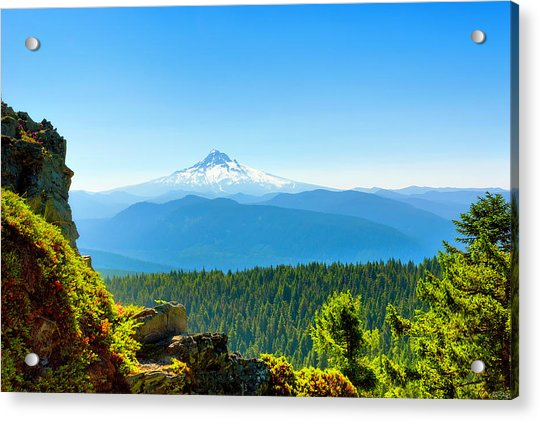 Mt Hood Seen From Beyond Acrylic Print