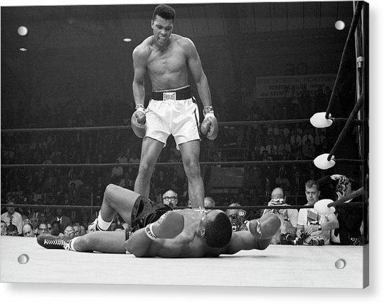 Muhammad Ali Taunting Sonny Liston Acrylic Print