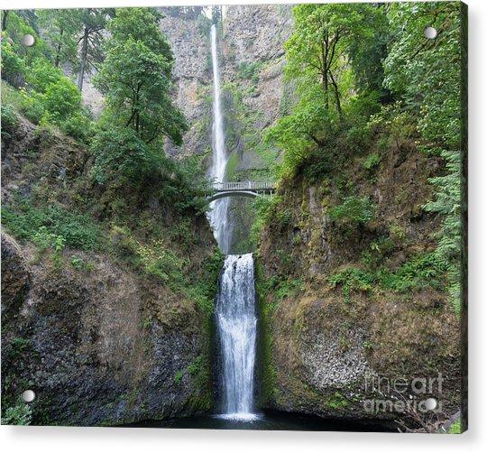 Multnomah Falls In The Columbia River Gorge In Oregon Dsc6514-2 Acrylic Print