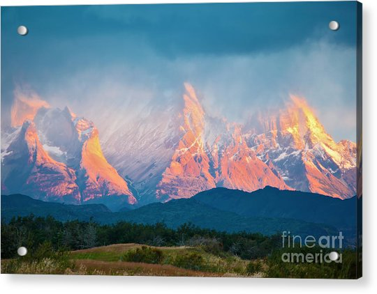 National Park Torres Del Paine In Acrylic Print by Kavram
