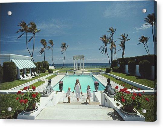 Neo-classical Pool Acrylic Print