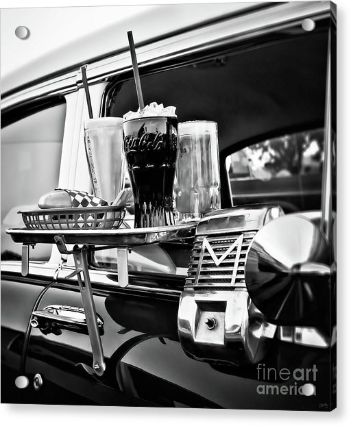 Night At The Drive-in Movies Acrylic Print