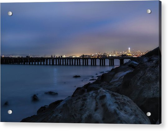 Night Pier- Acrylic Print