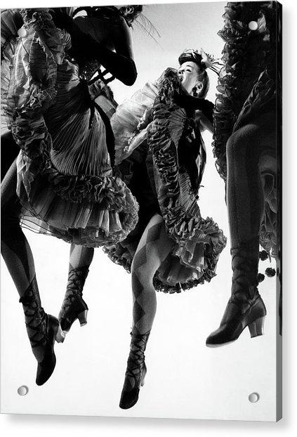 Nightmare Ballet In Original Oklahoma On Broadway Acrylic Print by Gjon Mili