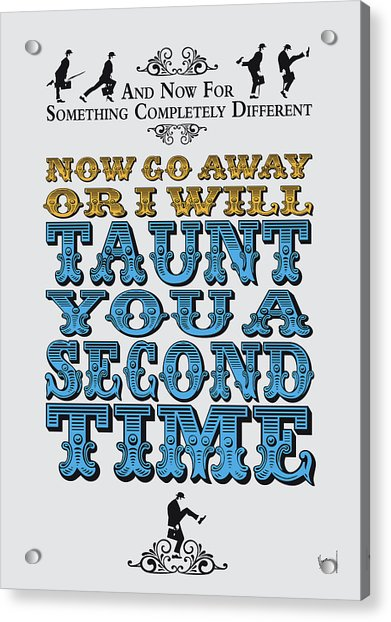 No05 My Silly Quote Poster Acrylic Print