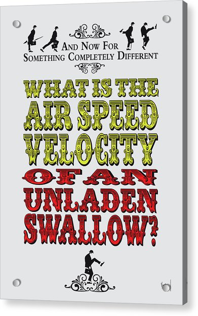 No14 My Silly Quote Poster Acrylic Print