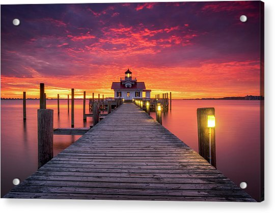 North Carolina Outer Banks Manteo Lighthouse Obx Nc Acrylic Print