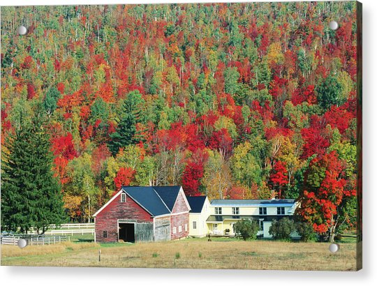 North New Hampshire Landscape Along Acrylic Print