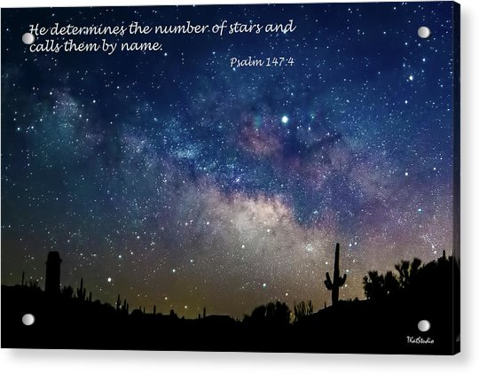 Number Of Stars Acrylic Print