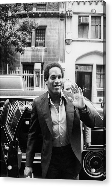O.j. Simpson Acrylic Print by Art Zelin
