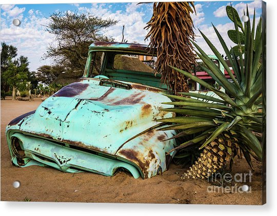 Old And Abandoned Car 2 In Solitaire, Namibia Acrylic Print