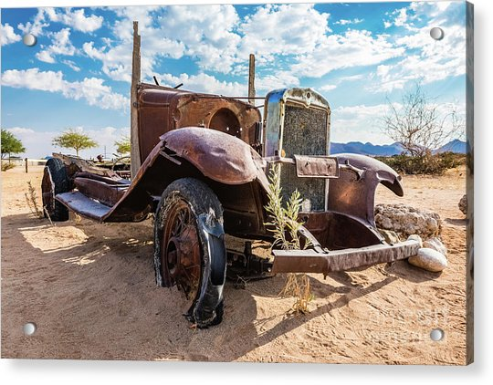 Old And Abandoned Car 3 In Solitaire, Namibia Acrylic Print