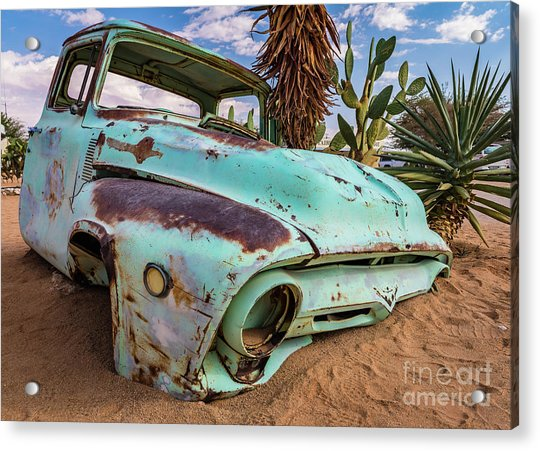 Old And Abandoned Car 7 In Solitaire, Namibia Acrylic Print