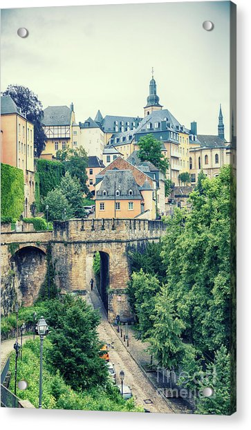 old city Luxembourg from above Acrylic Print